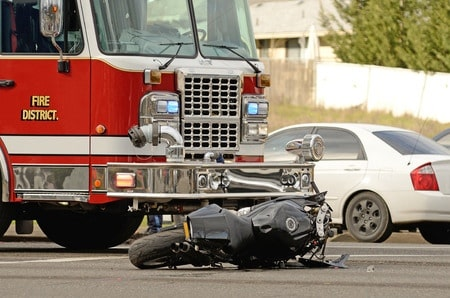 Image of a wrecked motorcycle